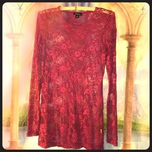DNA Couture Romantic 🌹Rose Lace Layering Top in M